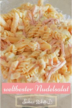 """der weltbeste Nudelsalat, ideales Rezept für jede Party Pasta salad The best pasta salad spicy, ideal as a barbecueThe BEST Ramen Pasta Salad you've ever tasted! geMediterranean Pasta Salad – THE title recipe from """"Nud Lettuce Salad Recipes, Pasta Salad Recipes, Party Salads, Best Pasta Salad, Great Appetizers, Grilling Recipes, Pasta Dishes, Vegetable Recipes, Macaroni And Cheese"""