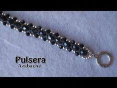 # DIY - Pulsera fácil de perlas, tupis y mostacillas Easy bracelet with pearls - YouTube