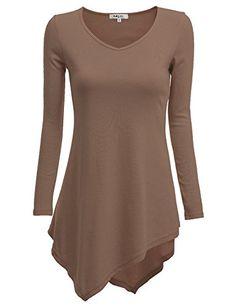 BUY NOW Doublju Womens Stylish Casual Long Sleeve Slim Fit Cotton 100% ugly christmas sweater Mocha 3XL Doublju company services to customer