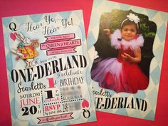"""We went with an Alice in """"One"""" Derland birthday party theme for Scarlett. Scarlett has a feisty attitude, so she played the role of the red queen."""