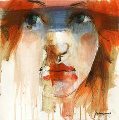 loose study by derekjones on DeviantArt Watercolor Landscape, Watercolor And Ink, Oil Painters, Abstract Portrait, Figure Drawing, Figurative Art, Serenity, Artsy, Art Prints