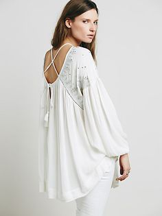 Free People FP One Short Sleeve Deep V Printed Tunic at Free People Clothing Boutique