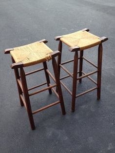 wooden stools