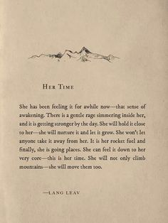 Her Time - Lang Leav