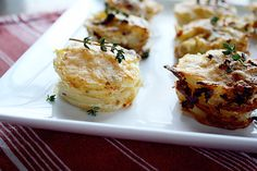 Need to make these before winter is over!  Parmesan scolloped potato stacks