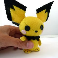my first Pichu plushie by Shlii.deviantart.com on @deviantART