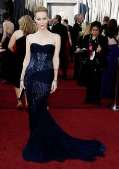 Trumpet/ Mermaid Sweetheart Strapless Court Train in Chiffon 84th Oscar Dress 2012