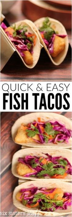 quick and easy fish tacos recipe makes for the perfect quick dinner meal
