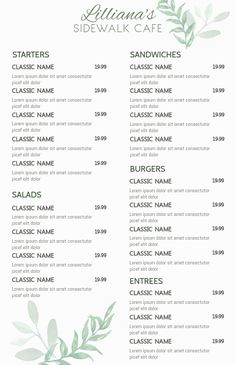 Copy of Restaurant Menu Restaurant Flyer, Restaurant Menu Template, Menu Templates, Design Templates, Invert Colors, Business Flyers, Classic Names, Solid Color Backgrounds, Crop Photo