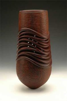 William Hunter, Shape Shifter V, PALOS VERDES, CA Cocobolo, $20,000  #wood #vessel #sculpture