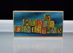Christmas Holiday Stamp Wood Mounted Stamps Happen Rubber Stamp Merry Christmas Blocks  Large Stamp  Merry Christmas Blocks  Jamie Carter , Stamps Happen Inc # 80301 Merry Christmas spelled out in wooden blocks 6.5 x 3.5 (16.5 x 9 cm) Handmade in USA New Unused Great for Holiday Card Making ,Scrapbooking or Other Creative Projects