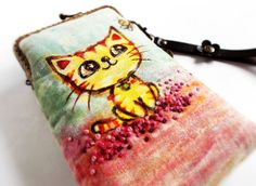 wristlet-cell-phone-case-hand-painted