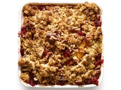Weekend cookout dessert idea: Apple-Raspberry Crumble with Oat-Walnut Topping from #FNMag