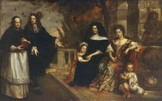 ab. 1670-1675 Theodor Boeyermans - Family Group in a Garden