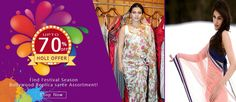 Find Holi Special Offer on Bollywood Replica Saree