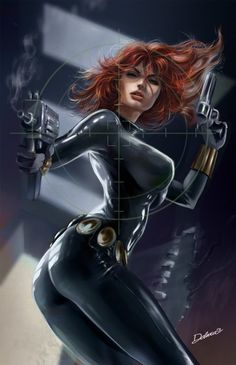 Natasha Romanova had a variety of different Black Widow costumes. Yelena Belova and Monica Chang have added their own outfits to the Black Widow costume history over the years. Marvel Comics, Bd Comics, Comics Girls, Marvel Heroes, Marvel Avengers, Comic Book Characters, Marvel Characters, Comic Character, Comic Book Heroes