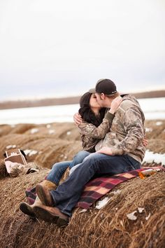 Outdoor Country Winter Engagement - Rustic Folk Weddings