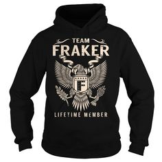 nice  Team FRAKER Lifetime Member - Last Name  Surname T-Shirt -  Discount 5%