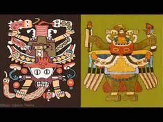 PERU  PARACAS (TEXTILES )  KNIFE  THE SIGN ENGRAVING WALTER BERRIOS MUSICA DE WAYNAWARI
