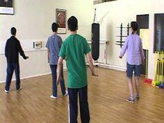 Yang Family Tai Chi practice single whip, raise hands, white crane - YouTube