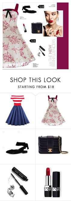 """""""She May Be Young But She Only Likes Old Things"""" by paradiselemonade ❤ liked on Polyvore featuring Chanel, KAROLINA, Bobbi Brown Cosmetics, Christian Dior and vintage"""