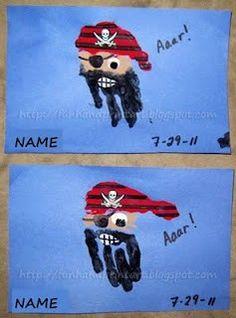 Preschool Crafts for Kids*: Pirate Handprint Craft