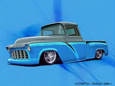 Custom 1957 Chevy truck with Cadillac lights. Description from pinterest.com. I searched for this on bing.com/images