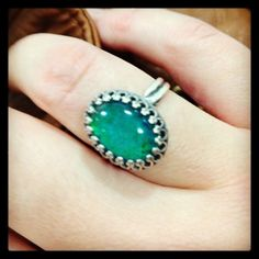 Zara Taylor mood stone ring blue for post-shopping happiness