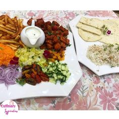 Turkish Platter recipe by Fatima A Latif posted on 24 Feb 2019 . Recipe has a rating of by 1 members and the recipe belongs in the Chicken recipes category Istanbul Restaurants, Real Food Recipes, Chicken Recipes, Fried Chips, Middle Eastern Recipes, Food Categories, Restaurant Recipes, Chana Masala