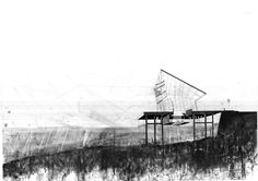 drawingarchitecture: Standing on the Cast Iron Shore, RIG 1- Tidal Exposition Space.   Chris Dove 2011 89dove.blogspot