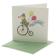 Mr Fox Birthday Card
