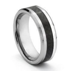 The ring is very nice, but the picture makes the carbon fiber seem more prominent than it happens to be.