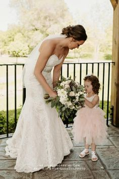 Find your perfect flower girl dress and wedding dress at the Wedding Shoppe! Shop online or in person in St. Paul, MN. | blush pink flower girl dress | strapless lace mermaid wedding dress from the Wedding Shoppe | bridal hairstyles and earrings | simple and natural wedding bouquet for bride with white and blush pink flowers | 2021 wedding inspiration | 2022 wedding ideas Blush Pink Bridesmaid Dresses, Blush Pink Wedding Dress, Pink Flower Girl Dresses, Fit And Flare Wedding Dress, Blush Pink Weddings, Lace Mermaid Wedding Dress, Dream Wedding Dresses, Flower Girls, Wedding Bouquet
