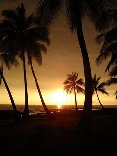 Sunset. Kona, Big Island Hawaii
