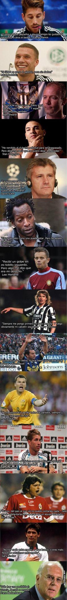 14 frases absurdas que nos deja el fútbol @ www.elmemeno.com