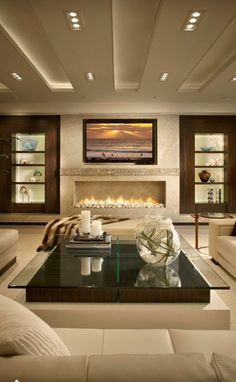 Modern Living Room Ideas With Fireplace And Tv Exterior