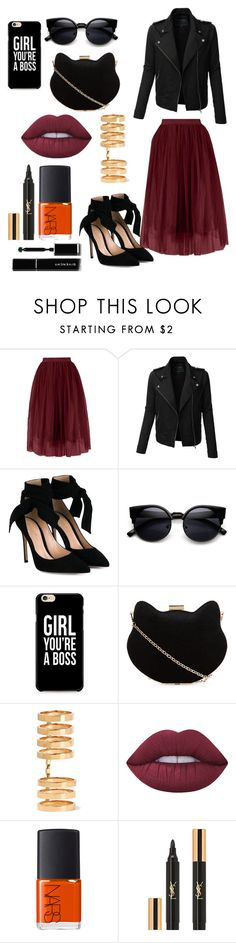 """""""Sem título #353"""" by bia-melo ❤ liked on Polyvore featuring LE3NO, Gianvito Rossi, New Look, Repossi, Lime Crime, NARS Cosmetics, Yves Saint Laurent and Givenchy"""