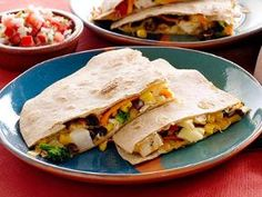 Kicking Quesodilla with peppers (Cheese & roasted red peppers)