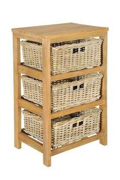 מעמד עץ טיק משולב ראטן טבעי | Home craft | מרמלדה מרקט