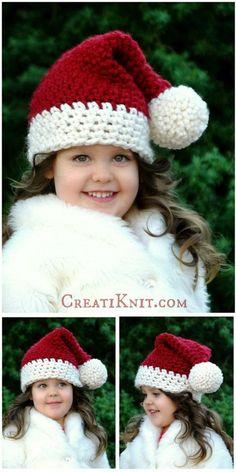 Santa Hat Free Crochet Pattern.