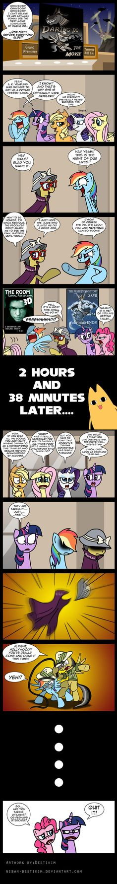 Daring Do - The Movie by Niban-Destikim on deviantART My Little Pony Comic, My Little Pony Pictures, Mlp Comics, Funny Comics, Funny Images, Funny Pictures, Mlp Memes, Best Cartoons Ever, Cute Ponies