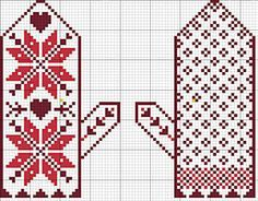 Snow Day Ornament Set Pattern – Posie: Patterns and Kits to Stitch by Alicia Paulson Knitted Mittens Pattern, Knit Mittens, Knitted Gloves, Knitting Socks, Knitting Charts, Knitting Stitches, Knitting Patterns, Chart Design, Knitting Projects