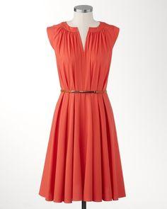 Vibrant belted dress-orange mother of the bride