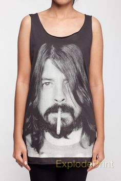 Dave Grohl Tank Top Foo Fighters Hard Rock Band T-Shirt Top Black Women Unisex TShirt Shirt Size S M L