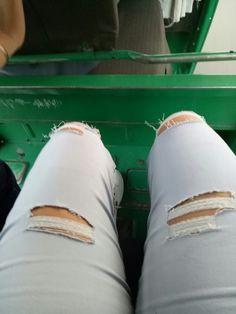 my diy Rip jeans..!!