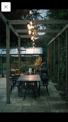 Backyard Bbq, Patio, Outdoor Furniture, Outdoor Decor, Trellis, Outdoor Spaces, Pergola, Anna, Dining Table