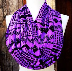 Tribal Lilac Chevron Scarf, Infinity Scarves, Teen fashion scarf, women's  fashion, Cotton/Rayon Blend, Knit Jersey on Etsy, $14.49