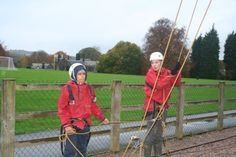 This is another photo from our Lea Green visit. I enjoyed racing with Micky, my mentor, over the assault course the most.