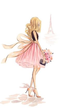 Girl visiting Paris