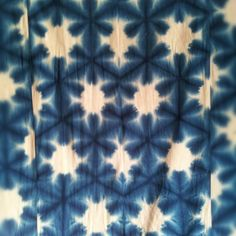 Sekka itajime shibori--detail of a mid 20th century cotton futon cover. __ srithreads
